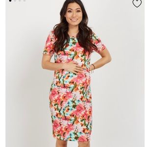 Pinkblush maternity floral dress